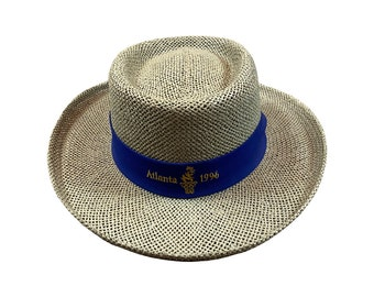 1996 Olympics Atlanta Volunteer Panama Straw Hat (Light)