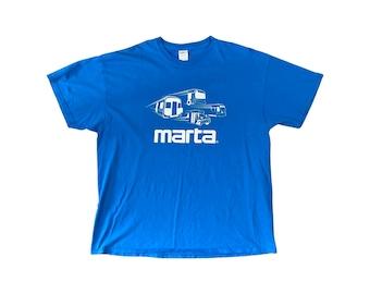MARTA Atlanta ATL Double Sided T-Shirt Blue (XXL)
