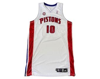 Detroit Pistons Lindsey Hunter #10 Game Worn Team Issue Adidas Jersey (50 +4)