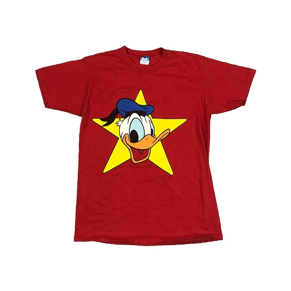 80s Donald Duck Star Disney Character Fashions T-Shirt (M/L)