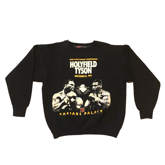 1991 Mike Tyson Evander Holyfield Boxing Fight Sweatshirt (M/L)