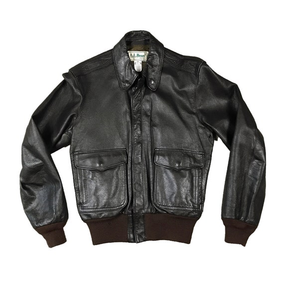 Vintage 1990's L.L. Bean Goat Skin Leather Bomber