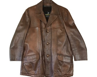 Vintage 1970's Startown Overcoat with Detachable Fur Vest (42)