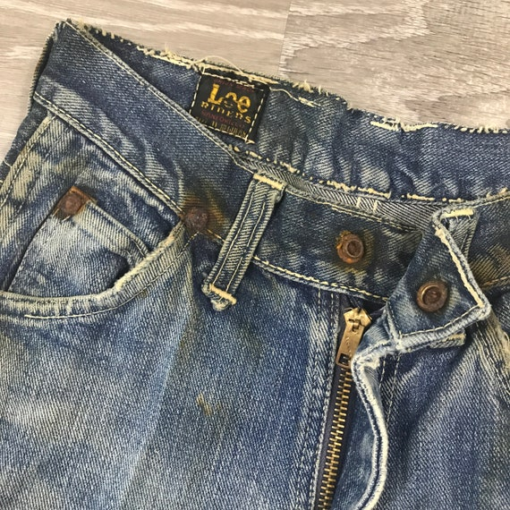 1940s/50s Lee Riders Jeans Crotch Rivet Union Mad… - image 3