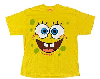 Sponge Bob Square Pants Full Face T-Shirt (XL)