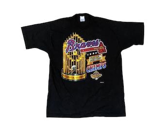 1995 Atlanta Braves World Series Championship Salem Sportswear T-Shirt (L)