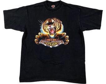 1992 Harley Davidson Tiger & Shield Ohio Motorcycle Shop T-Shirt (XL)
