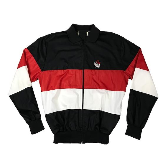 90s UGA University of Georgia Bulldogs embroidered Windbreaker Jacket (L)