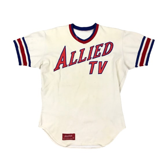 1970s Allied TV Rawlings Baseball Pullover Jersey (44)