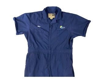 "MARTA Atlanta Swoosh Logo Navy Mechanic ""Mike"" Coveralls (XL)"