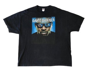 """David Banner """"The Greatest Story Ever Told"""" Promo Rap Tee Shirt (3XL)"""