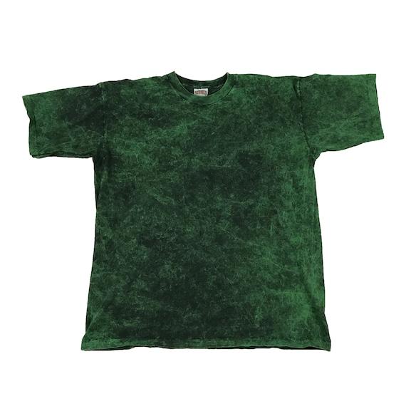 1990s Blank Green Dyed Nutmeg Mills Single Stitch T-Shirt (XL)