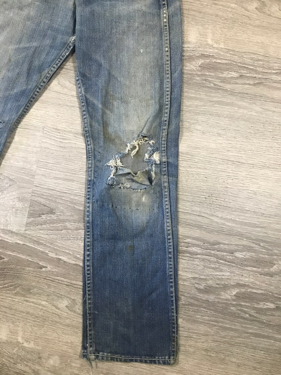 1940s/50s Lee Riders Jeans Crotch Rivet Union Mad… - image 6