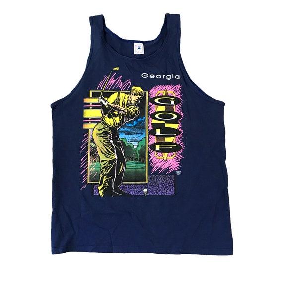 1990s Georgia GOLF Neon Tank Top Shirt (XL)