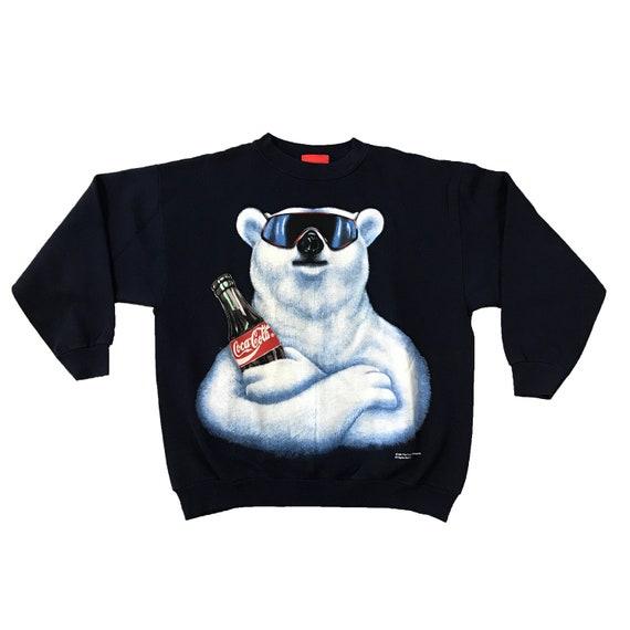 1994 Always Coca-Cola Polar Bear Sunglasses Sweatshirt (L)