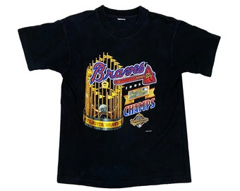 1995 Atlanta Braves World Series Championship Salem Sportswear T-Shirt (M)