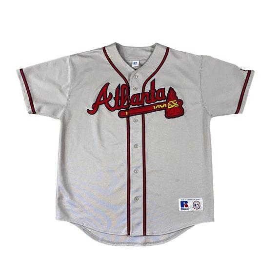 Atlanta Braves Road Away Russell Athletics Pro-Cut Jersey (XL)