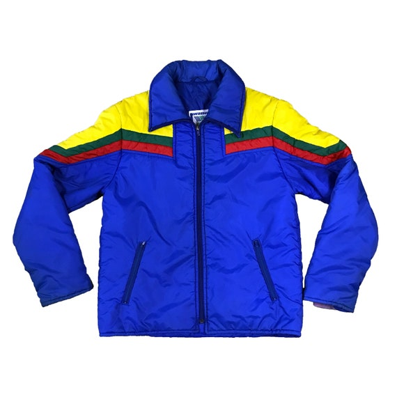 1980's Multi-colored Winning Ways Puffer Ski Coat (S)