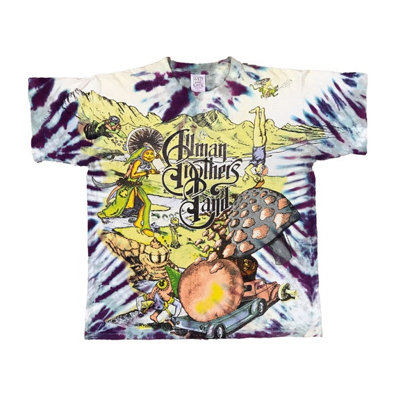 1995 Allman Brothers Band Tour - Psychedelic Tie Dye Graphic T-Shirt (XL)