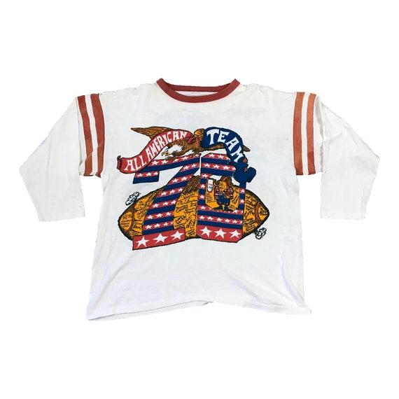 1970 All American Team Signatures 3/4 Sleeve Football Jersey (L) - OJ Simpson, Maharishi Mahesh Yogi, Snoopy