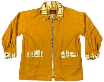 Vintage 1990's A-Class Hip Hop Style Mustard Jacket (XXL)