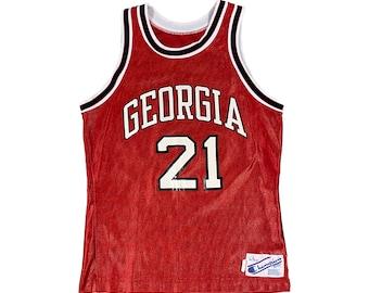 1980s Champion UGA Georgia Bulldogs Dominique Wilkins #21 Jersey (L)