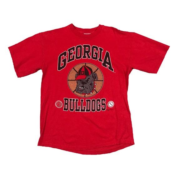 1992 UGA Georgia Bulldogs Basketball Single Stitch T-shirt (L)