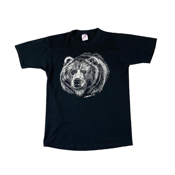 1989 Grizzly Bear Rendering Black Single Stitch T-shirt (M)