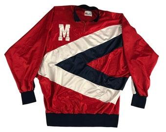 90s Game Worn Speedline Ole Miss University of Mississippi Basketball Warm-up Jacket (2XL)