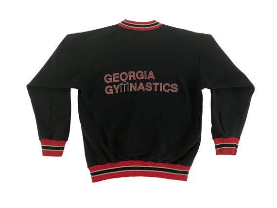 90s UGA Gym Dogs Team Issued University of Georgia Bulldogs Warm-up Sweatshirt (L)