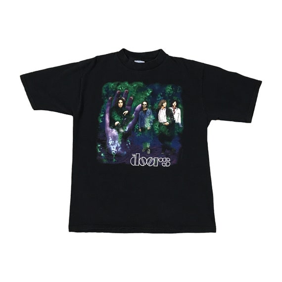 90s The Doors Trippy Band T-shirt (L)