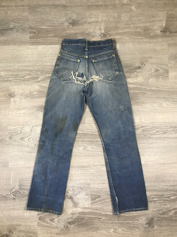 1940s/50s Lee Riders Jeans Crotch Rivet Union Mad… - image 7