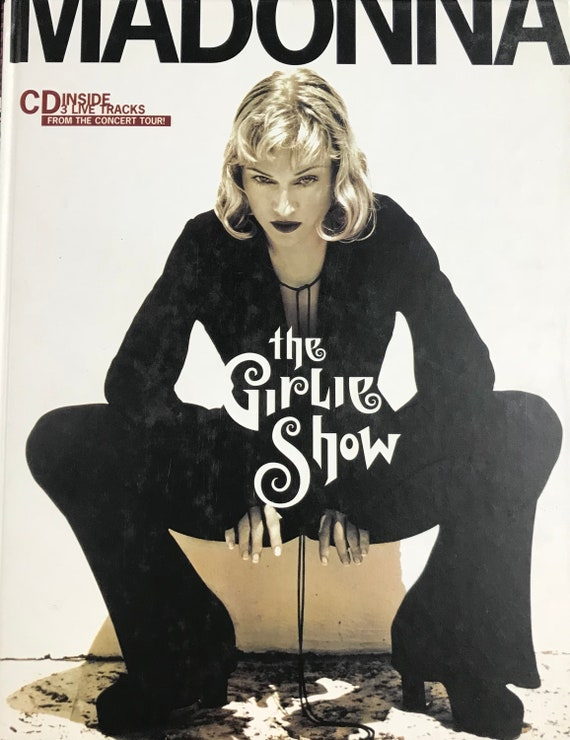 1994 MADONNA The Girlie Show Hardcover Tour Book w/ CD Callaway 1st Edition Japan