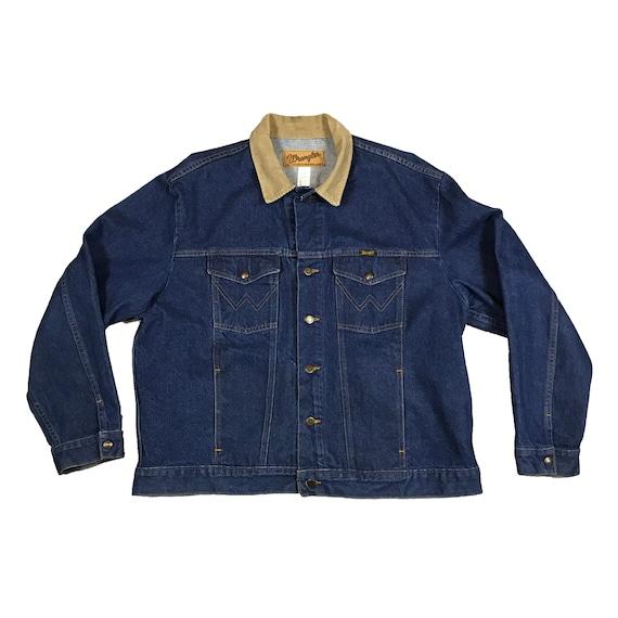 Vintage 1990's Wrangle Denim Rancher Jacket (2XL)