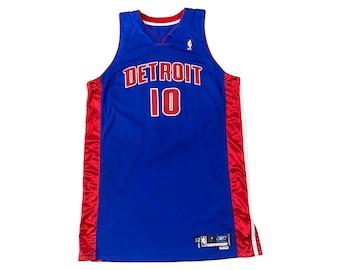 Detroit Pistons Lindsey Hunter #10 Game Worn Team Issue Reebok Jersey (52 +6)