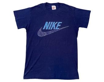 90s Paper Thin Nike Logo Swoosh Gray Tag Shirt (M)