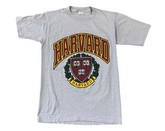 Harvard University Crest Single Stitch T-shirt (M)