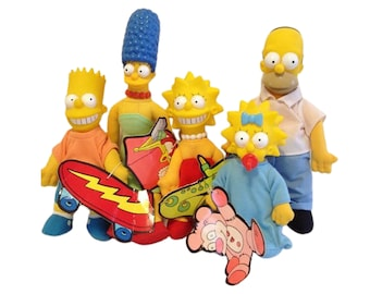 1990 The Simpsons Burger King Dolls Sealed Complete Set of 5 Deadstock