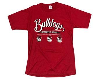 1990 UGA Georgia Bulldogs Rella Single Stitch T-shirt (L)