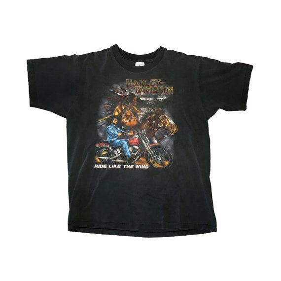 "90s Harley Davidson Holoubek ""Ride Like The Wind"" T-Shirt (L)"