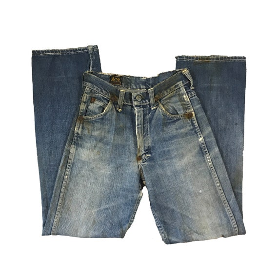 1940s/50s Lee Riders Jeans Crotch Rivet Union Made