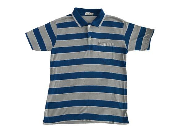 1980s Les Must de Cartier Striped One Pocket Polo Shirt (S/M)