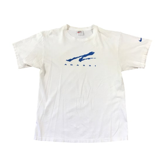 90s Nike Andre Agassi Challenge Court T-Shirt (L)