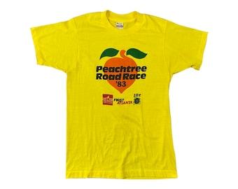 1983 Atlanta Peachtree Road Race 10K ATL Runner T-Shirt (S)