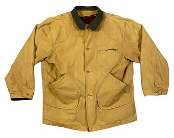 90s L.L. Bean Chore Barn Work Coat Jacket With Blanket Lining (XL)