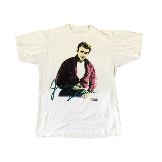 1987 James Dean Rendering (Rebel Without a Cause) Signature T-Shirt (L)