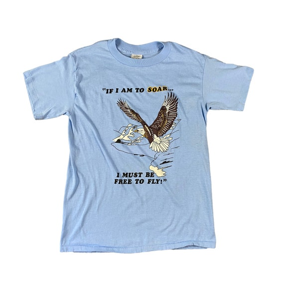 80s Eagle Free to Fly T-shirt (M)