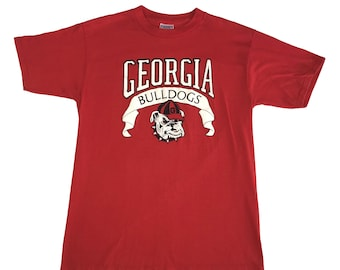 1980s University of Georgia Bulldogs UGA Banner T-Shirt (L)