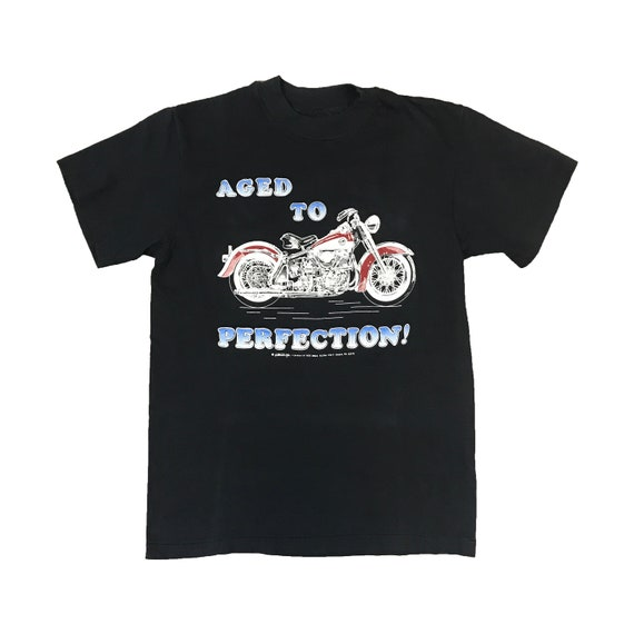 1990 Harley Davidson Aged to Perfection V-Twin Motorcycle T-Shirt (S)