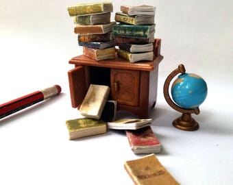 Dolls house books, set of 12, twelfth scale, dollhouse library fillers, antiquarian books, victorian dollhouse, mini journals, 1 inch scale